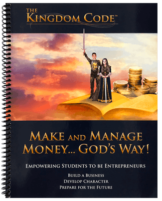 student text -the kingdom code- money management- kid- entrepreneur